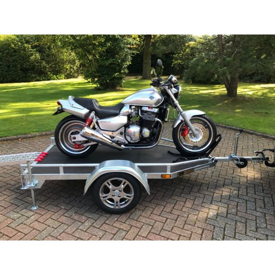UK Built Single Motorbike Trailer by Leyland Leisure