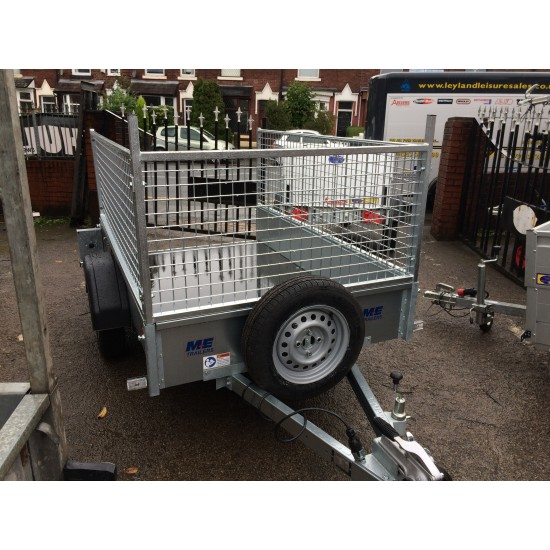 Meredith & Eyre MEG75064RW 6' x 4' Caged Trailer with Ramp tailgate