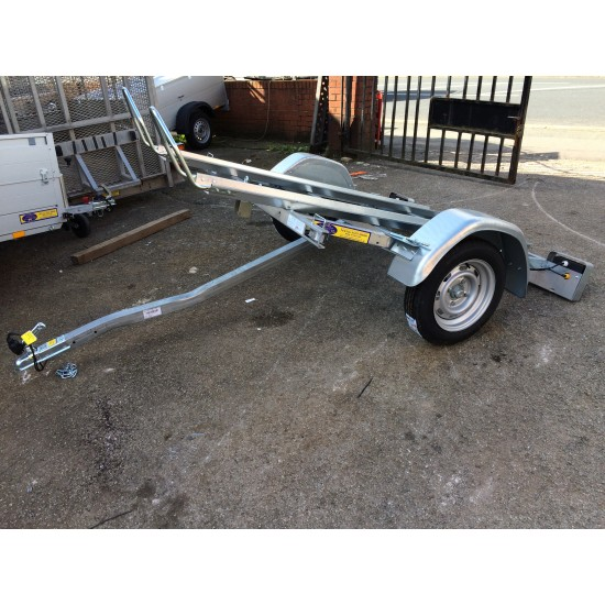 Twin Motorbike Trailer complete with folding alloy ramp