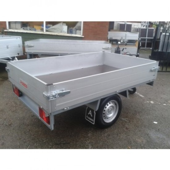 PLTB-211-136 1000 kg Single axle flat bed Anssems trailer