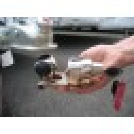 Universal Hitch Lock Un-Braked Trailers Pressed Steel Head